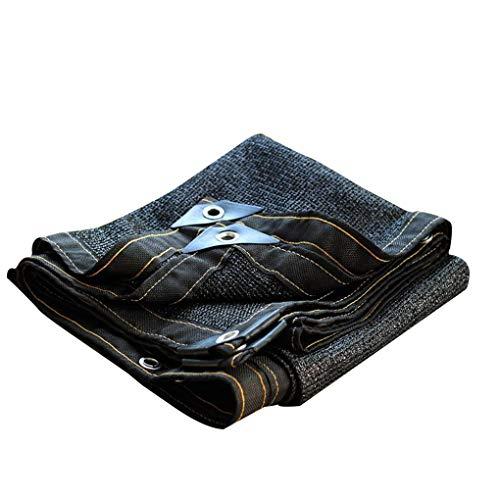 AOHMG schattiernetz, 80% Schattiergewebe mit Grommets gegurtet Kante Sonnensegel Schattentuch, forKennel Pool Pergola Barn,Black_10x10m/30x30ft