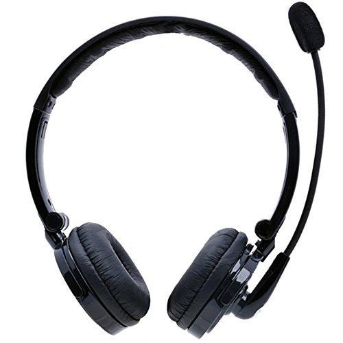 Bluetooth Headset,YAMAY Wireless Headset Over the Head mit Mikrofon,Noise Cancelling Stereo Bluetooth Kopfhörer Faltbare drahtlose Kopfhörer HandsFree für iPhone und Android Handy Computer Laptop - Bluetooth-wireless-stereo-headset