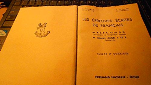 Pdf Telecharger Les Epreuves Ecrites De Francais Au Bepc Et
