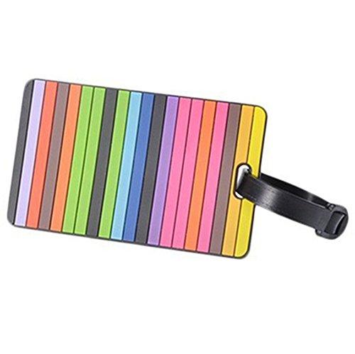 Vi.yo Lovely Gepäck Tags PVC Koffer Etikett Visitenkartenhalter Reise Tasche ID Tags (E) (Sport-gepäck-tags)