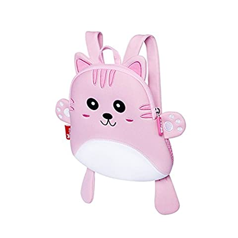 BINGONE Lightweight Backpack for Kids Nursery Pre-school Bag Travel Outdoor Pink Kitty