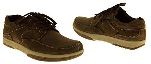 Mens cuir YACHTSMAN par marin Gents Chaussures Bateau Chaussures de Pont d'été temporaires Marron - marron