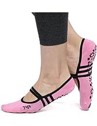 Danapp - Calcetines Antideslizantes de algodón para Yoga, Calcetines de Baile, Calcetines de Silicona