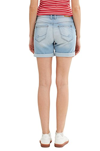 edc by ESPRIT Damen Short Blau (Blue Bleached 904)