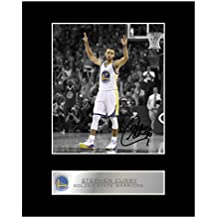 Stephen Curry firmada foto enmarcada Golden State Warriors 61a0ea9e39b