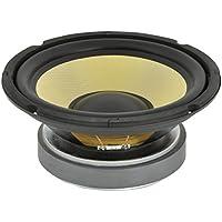 """QTX Woofer - Altavoz de 8"""" (cono de kevlar), negro y amarillo"""