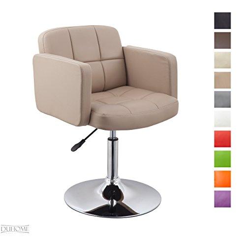 Duhome Elegant Lifestyle Clubsessel Sessel Kunstleder Cappuccino Esszimmerstuhl Lounge Sessel...