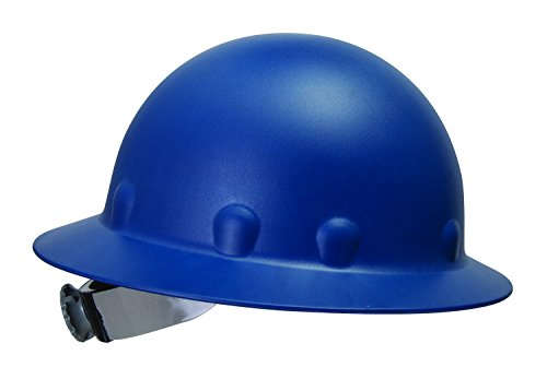 Fibre Metal P1 Roughneck Full Brim Injection Molded Fiberglass Hard Hat with Ratchet Suspension, Blue by Fibre-Metal Hard Hat
