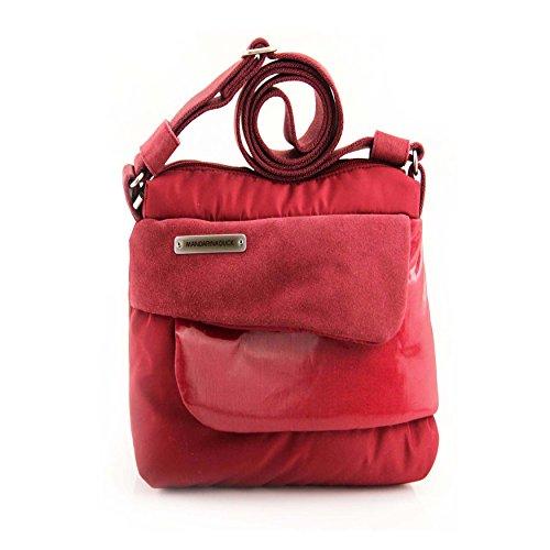 Mandarina Duck Fusion Damen Shopper Tasche Tablet Ipad mini bis 10'' Schultertasche Umhängetasche CrossOver (2ZT04030 34x27x10 cm, Rot - Rosso) Rot