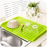 Dishes Sink Drain Pallets Plastic Filter Plate Storage Rack Kitchen Vegetable Fruit Shelving Board