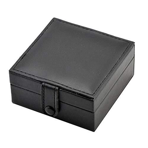 Elegant Organizer Geschenkbox Schaumpolster Schwarzes Leder Hohe Qualität Taschenuhr Aufbewahrungsbox