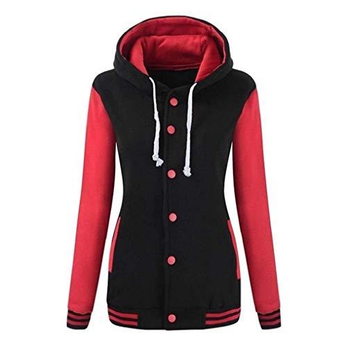 KOKOUK Women Spring Autumn Comfortable Coat Casual Fashion Jacket Women's Solid Rain Outdoor Jackets Waterproof Hooded Raincoat Windproof (Pink-2) -