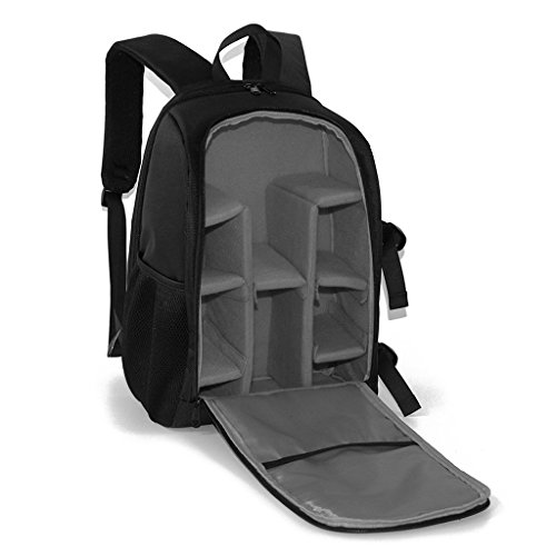MagiDeal Camera Backpack with Padded Crossbody Shoulder Strap for Nikon DSLR mirrorless Camera & Laptop Gray  available at amazon for Rs.2500