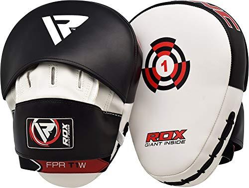 RDX Colpitori Pelle Maya Hide Coppia Scudo Sciopero Gancio Jab Pastiglie Boxe Thai Pao MMA Arti Marziali Allenamento