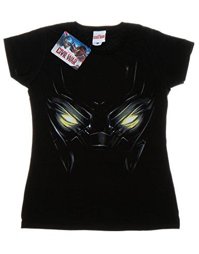 Marvel Damen Captain America Civil War Black Panther Eyes T-Shirt Schwarz