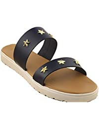 Blue Star Studs|matte| Gold|Blue| Ladies Flats |Fancy Flats |Women Flats | Ladies Slippers |Girls Slippers |Casual...