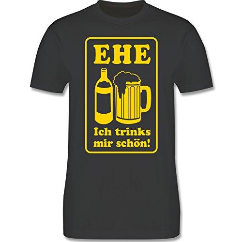 JGA Junggesellenabschied - Ehe - Ich trinks mir schön - Herren Premium T-Shirt Dunkelgrau