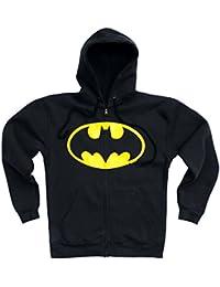 Sweatshirt à capuche zippé Batman - Veste à capuche zippé DC Comics - Zipper Hoodie - noir - Design original sous licence