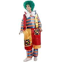 Disfraz de payaso gordo incluido peluca - Tg. S - 4-5 años. Disfraz de disfraz y bebé de Halloween (ver medidas en centímetros de tamaño) Bebé unisex - Hllw