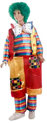 Costumes De Clown Gras Inclus Perruque - Tg. S - 4-5 Ans. DéGuisement - Dfr