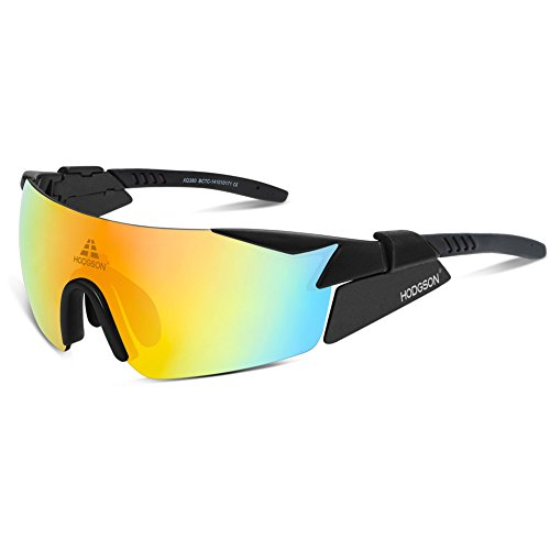 HODGSON polarisierte Sport Sonnenbrille für Herren und Damen, UV400 Schutz unzerbrechliche Sport Sonnenbrille mit 5 Wechselobjektiven für Radfahren, Cycling, Angeln, Running Outdoor Sport