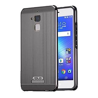AIBULO® PC + Metall Dual-Werkstoff Telefon Rüstung Bumper Protictive Case hülle/tasche/Schutzhülle für Asus Zenfone 3 Max ZC520TL (schwarz)