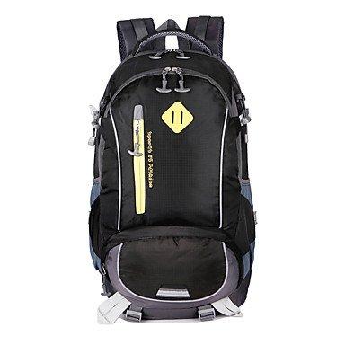 40 L Rucksack Camping & Wandern Reisen tragbar Atmungsaktiv Feuchtigkeitsundurchlässig Black