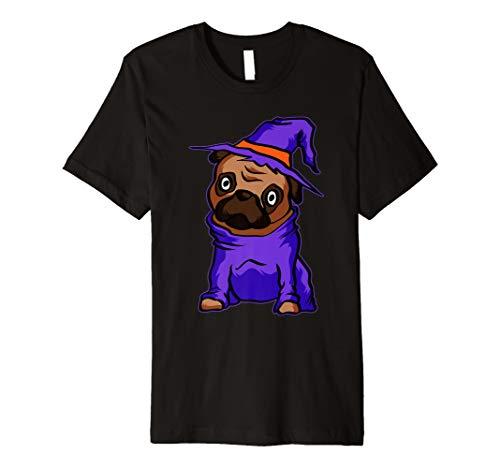 Lustiger Mops Hexe T-Shirt Süßes Hexe Halloween Hemd