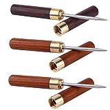 Favson Edelstahl-Eispickel mit Holzgriff und Sicherheitsabdeckung, 3 Stück