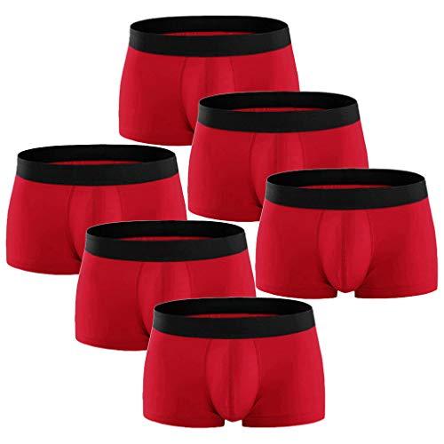 Crazboy Herren Übergröße Heiße Mode Packen Sie bunt Gemütlich 95% Baumwolle Unterwäsche(X-Large,Rot) Big Star Bootcut Jeans