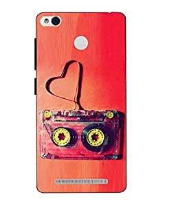 Snazzy Cassette Printed RedMI Hard Back Cover For Redmi 3S Prime