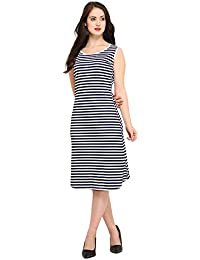 J B Fashion Women's A-Line Knee-Long Dress