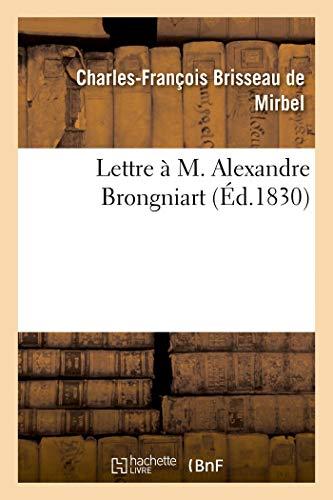 Lettre a M. Alexandre Brongniart