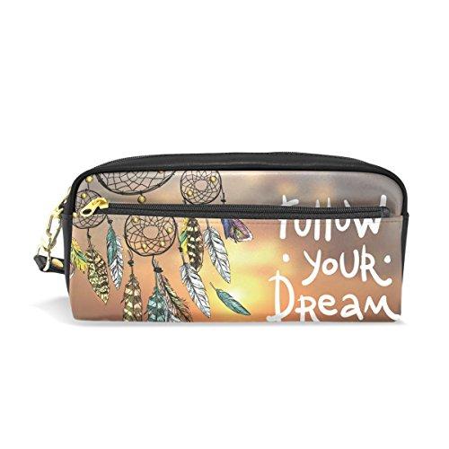 Ahomy Estuche atrapasueños Sunset grande condensado estudiante bolígrafo bolso cartera cosmético bolsa de maquillaje para las mujeres