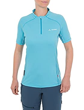 VAUDE T-Shirt Women's Roseg Half Zip Shirt II - Camiseta para mujer, color bay, talla XS