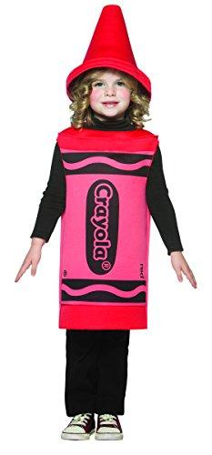 Rasta Imposta Crayola Kleid für Mädchen (rot) (Red Crayola Kostüm)