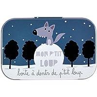 Derrière la porte DLP: Caja para dientes de leche–con Mon P'tit Loup–de metal, para bebé niño