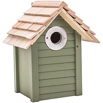 Cj Woodstone Nest Box Green 28mm fsc