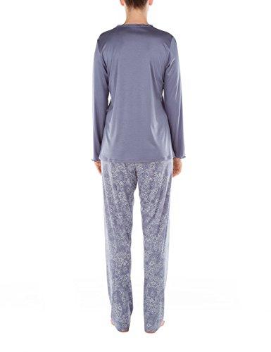 Calida Damen Zweiteiliger Schlafanzug St.Yves Pyjama Blau (blue granite 316)