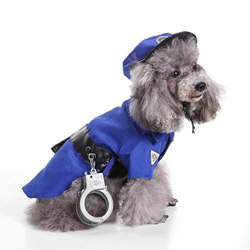 YUANZU Haustier-Hundekleidung T-Shirt Haustier-Hundekleidung Weihnachtsalter-Mann-Hundekleidung Halloween-Haustier-Kleidung Kürbis-Umwandlungs-Anzugs-Hexen-Kostüm SDZ11 Police Set - Gute Hexe Des Westen Kostüm