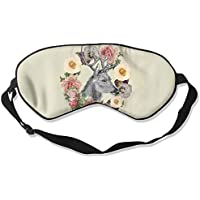 Comfortable Sleep Eyes Masks Floral Deer Pattern Sleeping Mask For Travelling, Night Noon Nap, Mediation Or Yoga preisvergleich bei billige-tabletten.eu