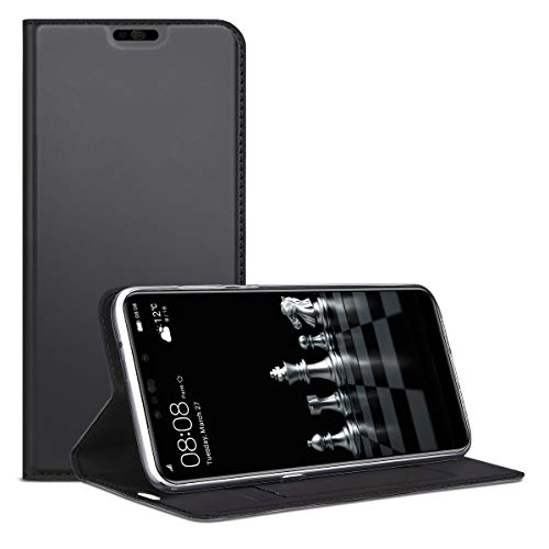 SMART Legend Huawei P Smart Plus Hülle, Huawei Nova 3i Hülle, Handyhülle Schutzhülle mit kartenfach Lederhülle Ledertasche PU Leder Flip Case Protective Cover mit Magnet Standfunktion - Grau