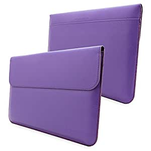 Surface 2 and 1 Sleeve, Snugg - Purple Leather Sleeve Case [Lifetime Guarantee] Protective Cover for Surface 2 and 1