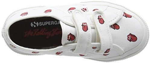 Superga Unisex-Kinder Fancovj Sneaker Blanc - White (904 White Red)