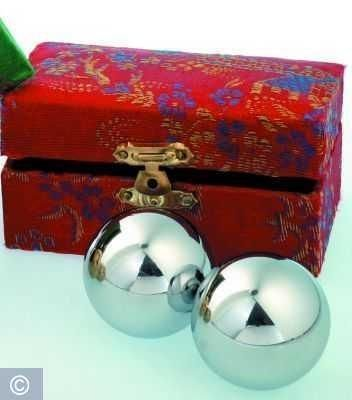 Meditation Qi-Gong-Kugeln - Silberfarben