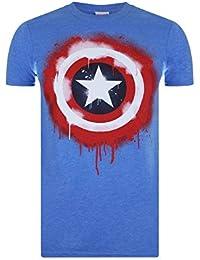 Marvel Stencil Shield, T-Shirt Uomo
