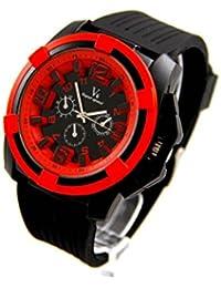 V6 Montre Homme MONTRE123 - Reloj , correa de silicona color negro