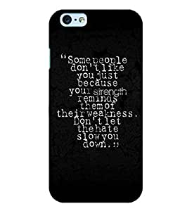 Citydreamz Strength\Weakness\Love\Hate\Quotes Hard Polycarbonate Designer Back Case Cover For Apple Iphone 4/4S