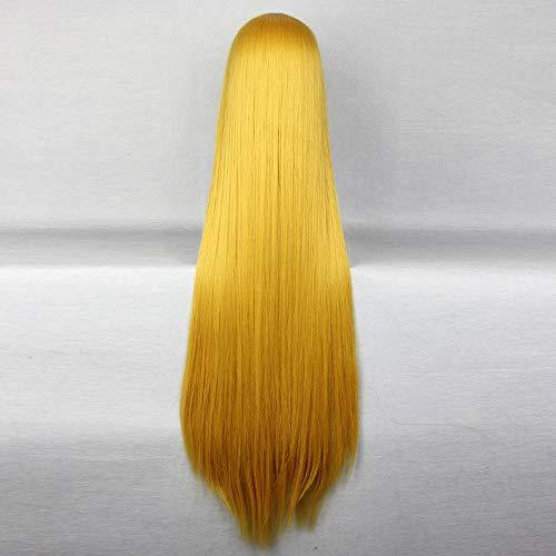 WIG MINE Lange gerade blonde Perücke 80cm touhouProject Kirisame Marisa COS (Marisa Kirisame Cosplay Kostüm)