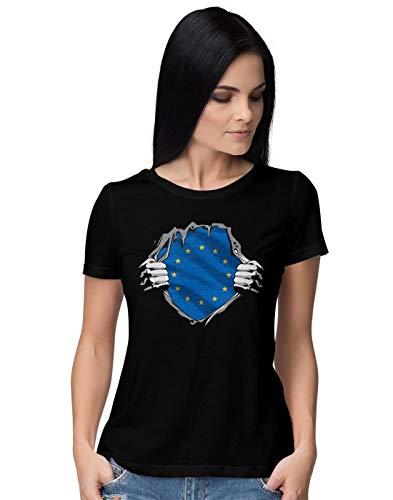 Superheroes Costume EU Flag Damen T-Shirt XXL (Grateful Dead T-shirt Soft)